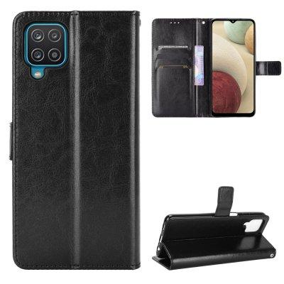 Etui Coque Samsung Galaxy A12 Protection Housse Portefeuille Livre Emplacement cartes , support dépliant Languette Magnétique