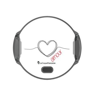 Support voiture avec charge à induction Coeur Noir Amour La Coque Francaise.