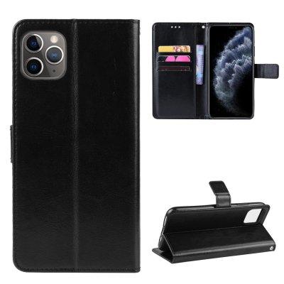 Etui Coque iPhone 11 Pro Max Noir, Protection Portefeuille Livre Emplacement cartes , support dépliant et Languette Magnétique