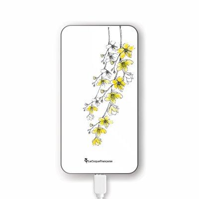 Batterie en verre trempé universel 8000mAh Fleurs Cerisiers Motif Ecriture Tendance La Coque Francaise