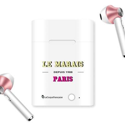 Ecouteurs Sans Fil Bluetooth Rose Gold rose gold Le Marais Ecriture Tendance et Design La Coque Francaise.