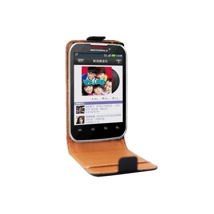 Etui clapet cuir noir Motorola Motosmart Mix XT550