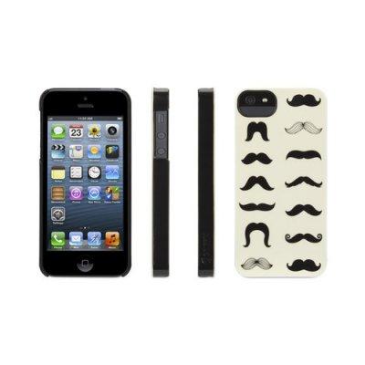 Coque motif moustaches noire Griffin pour iPhone 5