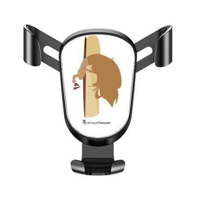 Support téléphone voiture Silhouette Terracotta Motif Ecriture Tendance La Coque Francaise