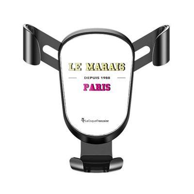 Support téléphone voiture Le Marais Motif Ecriture Tendance La Coque Francaise