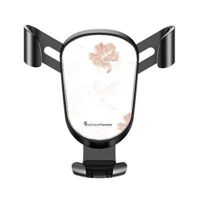 Support téléphone voiture Fleurs Blanches Motif Ecriture Tendance La Coque Francaise