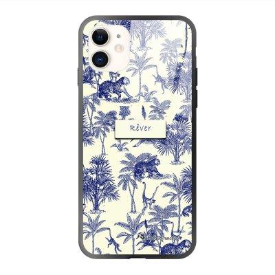 Coque iPhone 11 soft touch effet glossy Botanic Rêve Design La Coque Francaise
