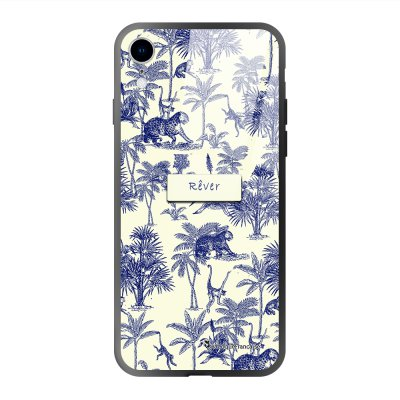 Coque iPhone Xr soft touch effet glossy Botanic Rêve Design La Coque Francaise
