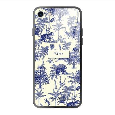 Coque iPhone 7/8/ iPhone SE 2020 soft touch effet glossy Botanic Rêve Design La Coque Francaise