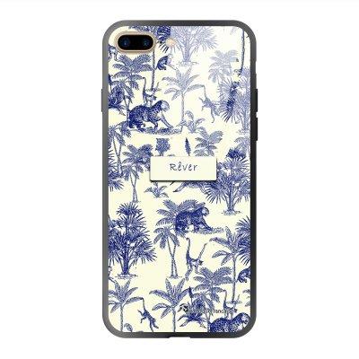 Coque iPhone 7 Plus/ 8 Plus soft touch effet glossy Botanic Rêve Design La Coque Francaise