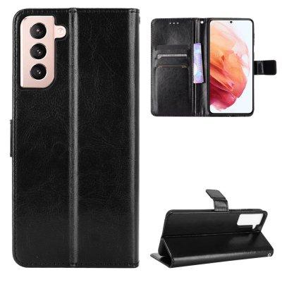 Etui Coque Samsung Galaxy S21 5G Protection Portefeuille Livre Emplacement cartes , support dépliant et Languette Magnétique