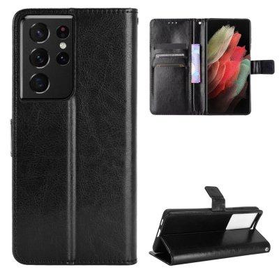 Etui Coque Samsung Galaxy S21 Ultra 5G Protection Portefeuille Livre Emplacement cartes support dépliant Languette Magnétique
