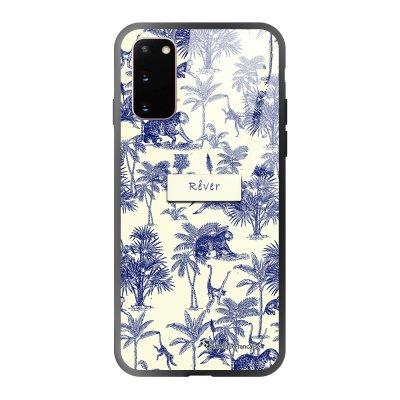 Coque Samsung Galaxy S20 soft touch effet glossy Botanic Rêve Design La Coque Francaise