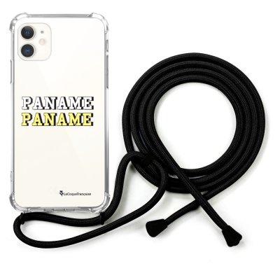 Coque cordon iPhone 11 noir Dessin Paname La Coque Francaise