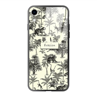 Coque iPhone Xr soft touch effet glossy Botanic Evasion Design La Coque Francaise