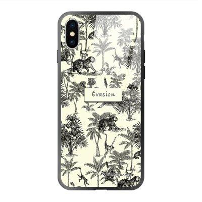Coque iPhone X/Xs soft touch effet glossy Botanic Evasion Design La Coque Francaise