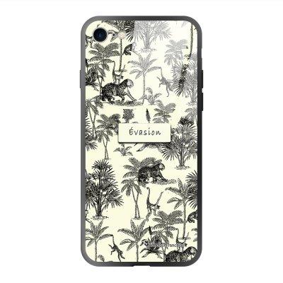 Coque iPhone 7/8/ iPhone SE 2020 soft touch effet glossy Botanic Evasion Design La Coque Francaise
