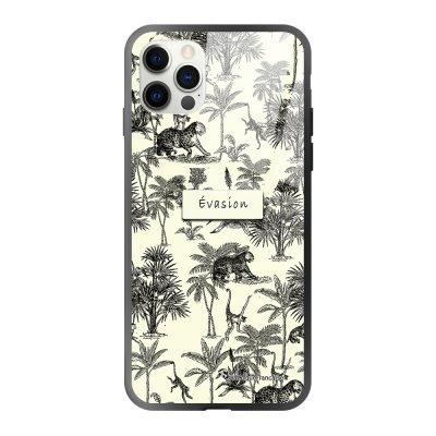 Coque iPhone 12/12 Pro soft touch effet glossy Botanic Evasion Design La Coque Francaise