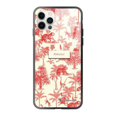 Coque iPhone 12/12 Pro soft touch effet glossy Botanic Amour Design La Coque Francaise
