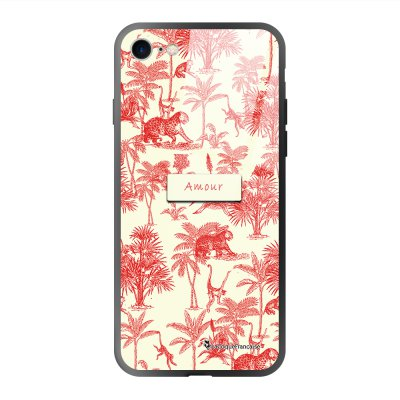 Coque iPhone 7/8/ iPhone SE 2020 soft touch effet glossy Botanic Amour Design La Coque Francaise