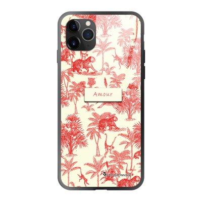 Coque iPhone 11 Pro soft touch effet glossy Botanic Amour Design La Coque Francaise