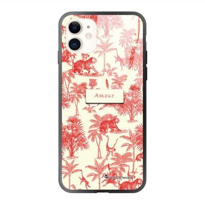Coque iPhone 11 soft touch effet glossy Botanic Amour Design La Coque Francaise