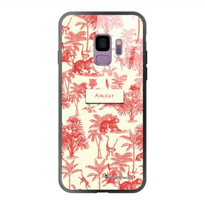 Coque Samsung Galaxy S9 soft touch effet glossy Botanic Amour Design La Coque Francaise