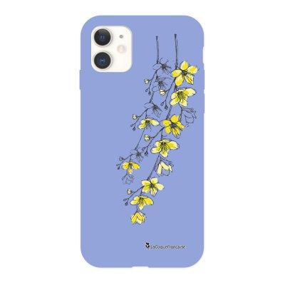 Coque iPhone 11 Silicone Liquide Douce lilas Fleurs Cerisiers La Coque Francaise.