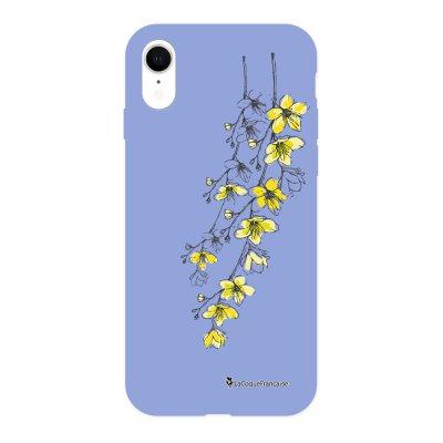 Coque iPhone Xr Silicone Liquide Douce lilas Fleurs Cerisiers La Coque Francaise.