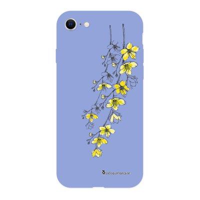 Coque iPhone 7/8/ iPhone SE 2020 Silicone Liquide Douce lilas Fleurs Cerisiers La Coque Francaise.