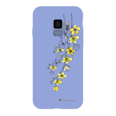 Coque Samsung Galaxy S9 Silicone Liquide Douce lilas Fleurs Cerisiers La Coque Francaise.