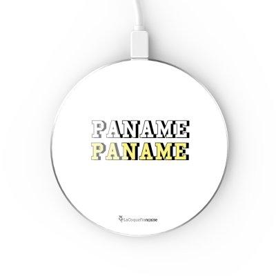 Chargeur Induction contour argent blanc Paname La Coque Francaise