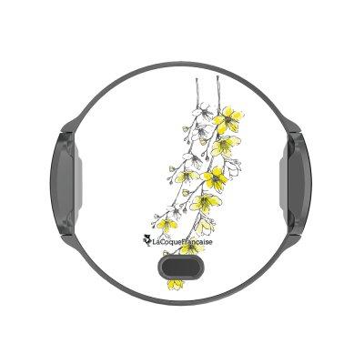Support voiture avec charge à induction Fleurs Cerisiers La Coque Francaise.