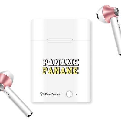 Ecouteurs Sans Fil Bluetooth Rose Gold rose gold Paname Ecriture Tendance et Design La Coque Francaise.