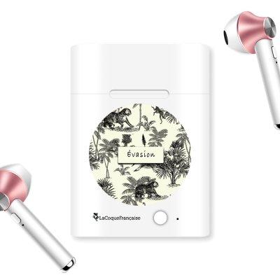Ecouteurs Sans Fil Bluetooth Rose Gold rose gold Botanic Evasion Ecriture Tendance et Design La Coque Francaise.