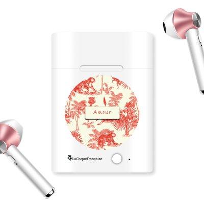 Ecouteurs Sans Fil Bluetooth Rose Gold rose gold Botanic Amour Ecriture Tendance et Design La Coque Francaise.