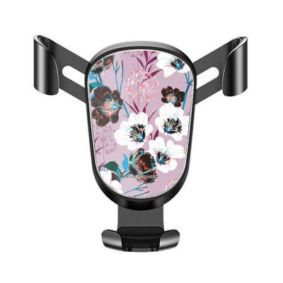 Support téléphone voiture Fleurs parme Motif Ecriture Tendance La Coque Francaise