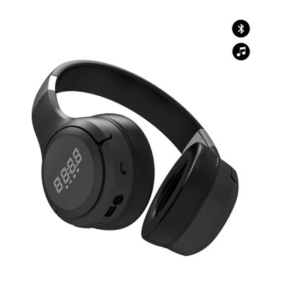 Casque Bluetooth noir avec affichage LED, Support Micro, AUX ,FM, carte TF Noir