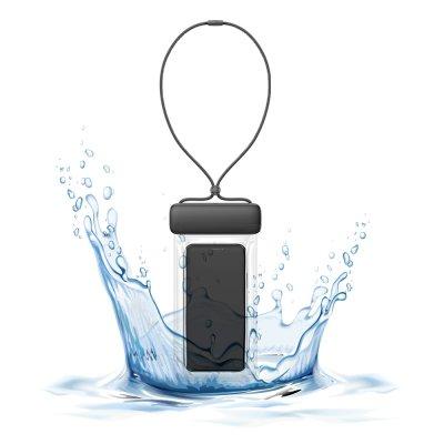Pochette waterproof  IPX8  pour Smartphone jusqu'à 7,2 - noir
