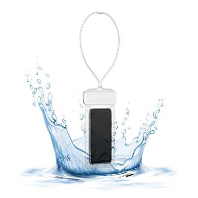 Pochette waterproof  IPX8  pour Smartphone jusqu'à 7,2 - blanc