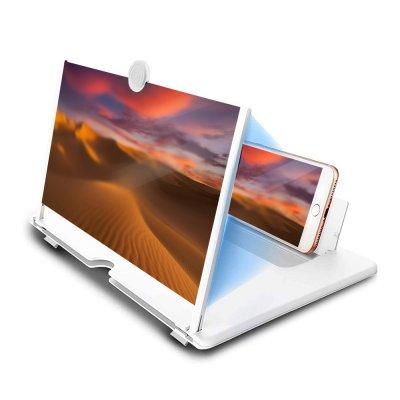 Agrandisseur d'écran 14 pour Téléphone,amplificateur d' écran 3D avec support  Universel Blanc
