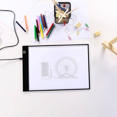 Planche LED à dessin avec contrôle de luminosité