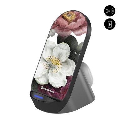 Chargeur stand à induction Fleurs roses La Coque Francaise