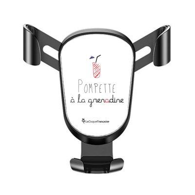 Support téléphone voiture Pompette à la grenadine Motif Ecriture Tendance La Coque Francaise