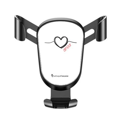 Support téléphone voiture Coeur Noir Amour Motif Ecriture Tendance La Coque Francaise