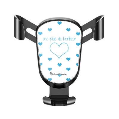 Support téléphone voiture Pluie de Bonheur Bleu Motif Ecriture Tendance La Coque Francaise