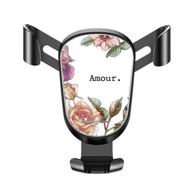 Support téléphone voiture Amour en fleurs Motif Ecriture Tendance La Coque Francaise