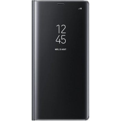Etui Coque Xiaomi Redmi Note 9S/ Note 9 Pro/ Note 9 Pro Max à rabat clear view translucide Support Miroir Anti chocs Noir