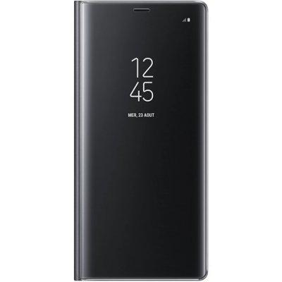 Etui Coque Huawei P30 Lite à rabat clear view translucide Support Miroir Anti chocs Noir