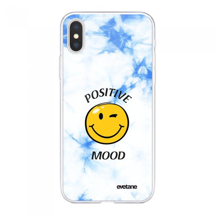 Coque iPhone X/Xs 360 intégrale Positive mood Tendance Evetane. - Coquediscount